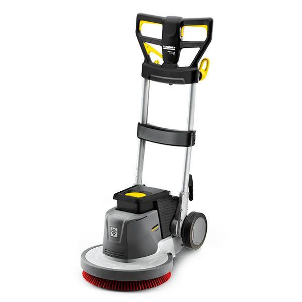 Abrillanatadora de pisos, color gris para uso profesional muy cómoda y potente con engranaje planetario para prácticamente todas las tareas de limpieza de edificios.