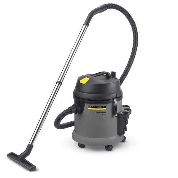 Aspiradora color gris, de uso profesional s un aspirador en seco y en húmedo de uso profesional universal, compacto, maniobrable y muy fácil de utilizar