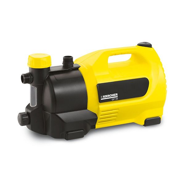 Bomba de agua para jardin, color amarillo, gracias a su elevada potencia las bombas pueden alimentar perfectamente varios rociadores.