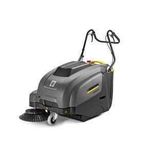 Barredora color gris, uso profesional de conducción manual, modelo de baterías; incluye batería y cargador con control electrónico