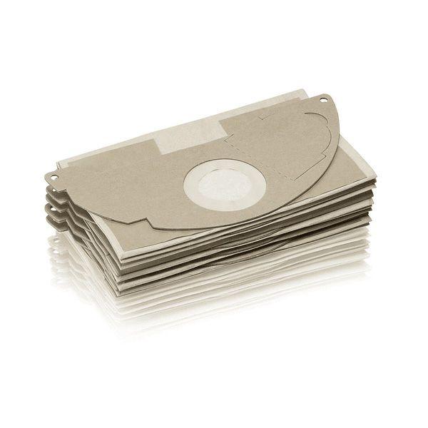 Bolsa de filtro de papel color cafe, compatible con la aspiradora WD2/MV2