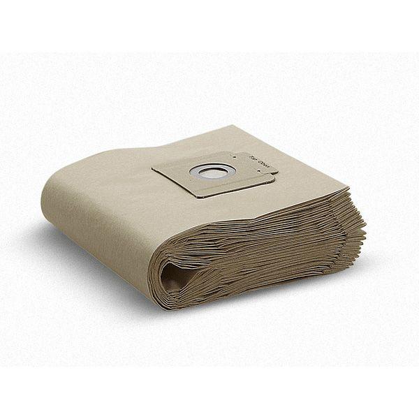 Pack de 10 bolsas de repuesto, color cafe para Aspiradora Profesional Polvo Tapiz Modelo T15/1 Karcher