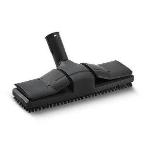 Boquilla,color negro, para suelos con superficie de limpieza muy ancha y cerdas adicionales para limpiar rápidamente.