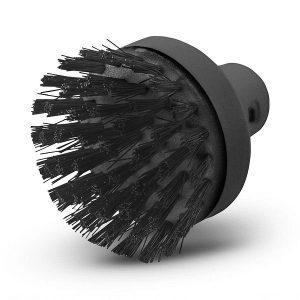Con el cepillo redondo de gran tamaño, las superficies grandes pueden limpiarse en menos tiempo. Compatible con limpiadoras a vapor