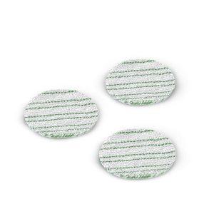 3 cepillos de esponja colo verde y blanco, para pulir superficies resistentes, compatible con la enceradora FP303