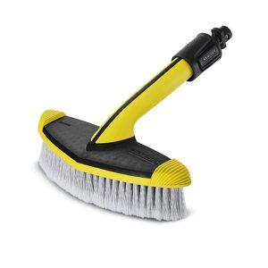 Cepillo de lavado blando, color amarillo y negro WB 60 para limpiar superficies más grandes , como, por ejemplo, coches, caravanas, barcos, invernaderos o persianas enrollables