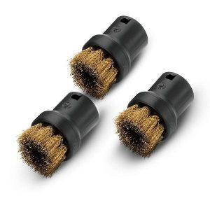 Kit de cepillos con cerdas de latón para eliminar sin problemas la suciedad resistente e incrustada.