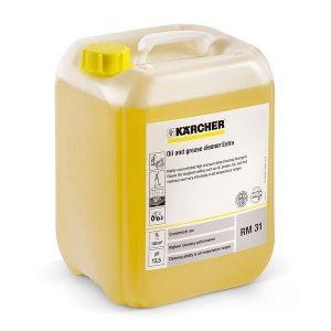 Limpiador base altamente concentrado para la limpieza con hidrolavadoras. Para la suciedad más incrustada, como aceite, grasa, alquitrán, hollín y resina ahumada