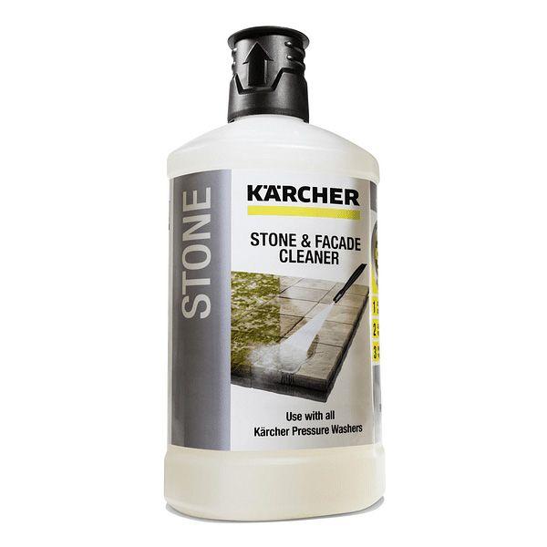 Potente limpiador para fachadas y piedra, color blanco con la única fórmula 3 en 1 para el máximo rendimiento de limpieza.