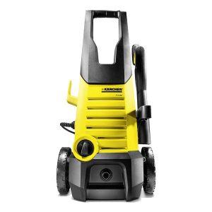 hidrolavadora versatil de color amarillo y negro es compacta y robusta ideal para movilizar en el hogar