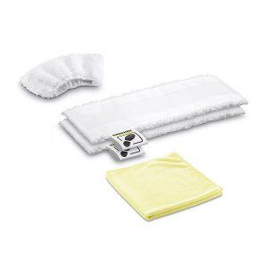 El kit de paños de microfibra para la limpieza con vapor de la cocina incluye dos paños para suelos de microfibra de alta calidad, una funda de microfibra para la boquilla manual y un paño de microfibra para acero inoxidable