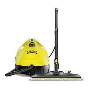 limpiadora a vapor de color amarillo, especial para limpieza con articulación flexible garantiza la máxima ergonomía y proporciona unos resultados de limpieza perfectos gracias a la tecnología de láminas.