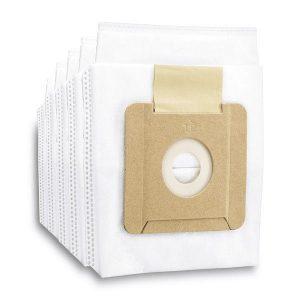 Pack 5 bolsas, color blanco, para repuesto para Aspiradora Kärcher Filtro Hepa VC2
