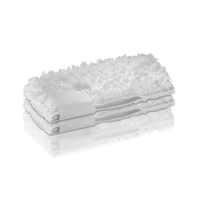 2 fundas suaves, color blanco de felpa aterciopelada de microfibra para la boquilla manual. Para desprender y recoger aún mejor la suciedad y la grasa.
