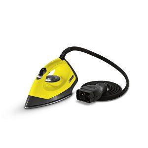 Plancha de vapor, color amarillo y negro a presión de alta calidad con suela superdeslizante de acero inoxidable