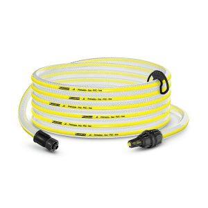 Manguera de aspiracion color blanco y amarillo, Permite aspirar agua de fuentes alternativas