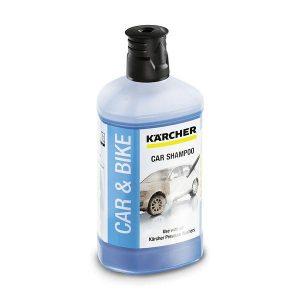 Potente champú para automóviles con la exclusiva fórmula 3 en 1 que ofrece una fórmula de secado rápido y ultrabrillo, además del mayor rendimiento de limpieza gracias al limpiador activo.