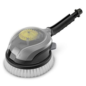 El cepillo de lavado giratorio con recambio universal está equipado con una palanca de desbloqueo que permite sustituir el recambio de forma rápida y sencilla, sin entrar en contacto con la suciedad.