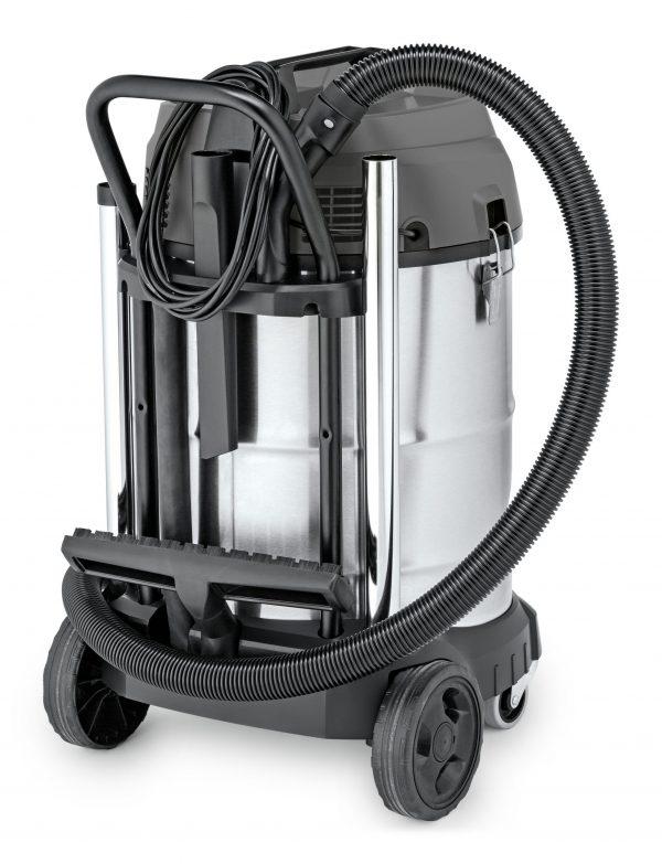 aspiradora karcher nt70/2 con sus accesorios color gris y negro
