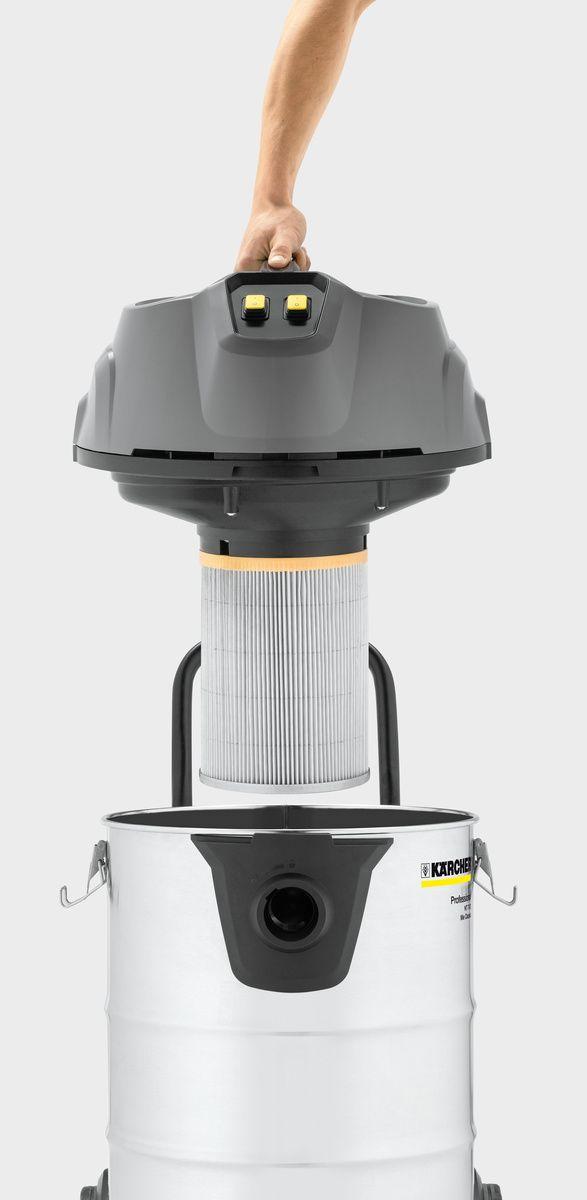aspiradora nt70/2 con filtro color gris