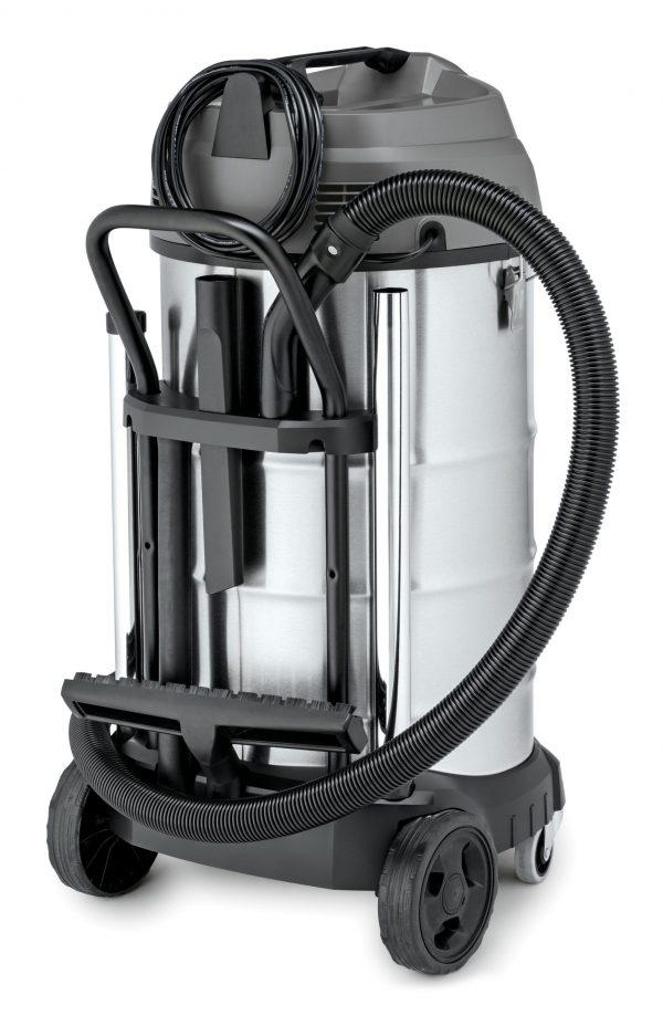 aspiradora karcher nt 90/2 color gris y negro con sus accesorios