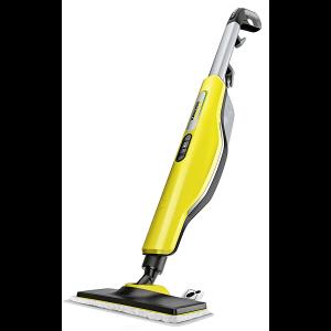Limpiadora a vapor de color amarillo para el piso mata al 99.99% de bacterias usando nada más que agua del grifo.
