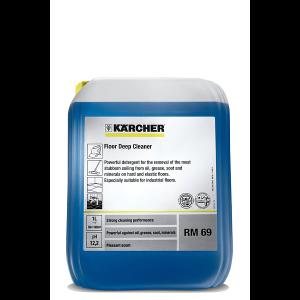 Potente detergente, color azul, para la limpieza eficaz de suciedad incrustada de grasa, aceite, hollín y minerales en suelos normales o revestimientos industriales